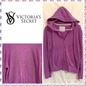 Victorias Secret Large Purple Angel Wings Hoodie